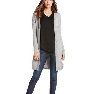 FIFTEEN TWENTY Gray Long Cardigan Size Small